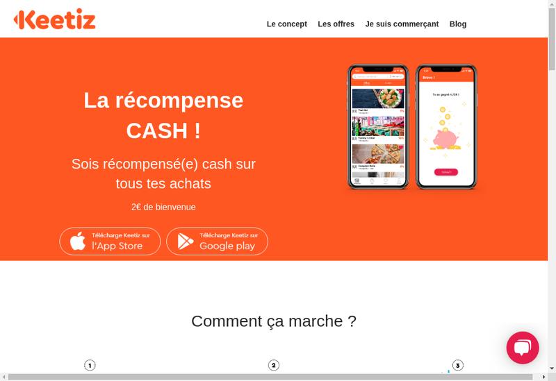 Capture d'écran du site de Keetiz