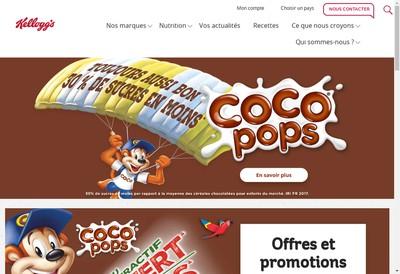 Site internet de Kellogg'S Produits Alimentaires