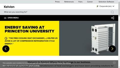 Site internet de Kelvion