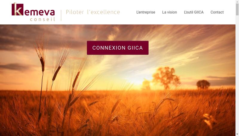 Capture d'écran du site de Kemeva Conseil