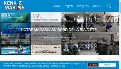 Site internet de Kenkiz Marine