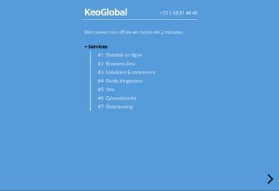 Site internet de Keoglobal