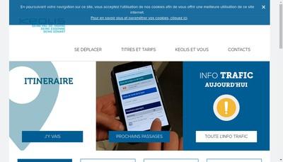 Site internet de Keolis Seine Val de Marne