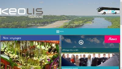Site internet de Keolis Tours