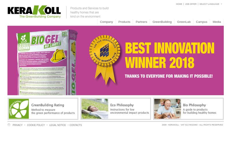 Capture d'écran du site de Kerakoll France