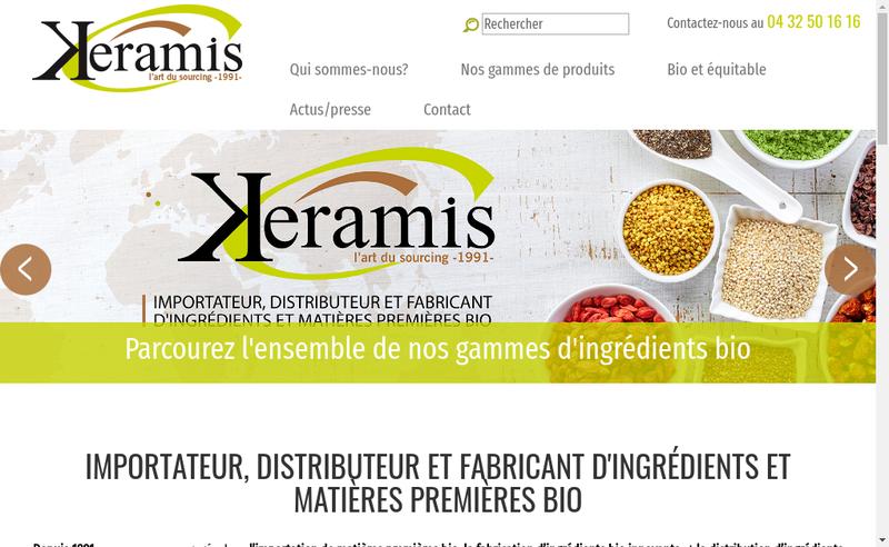 Capture d'écran du site de Keramis
