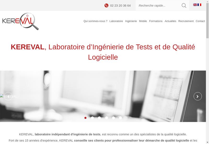 Capture d'écran du site de Kereval
