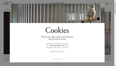 Site internet de Kering