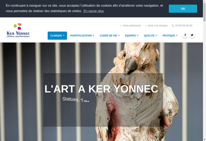 Capture d'écran du site de Clinique Ker Yonnec