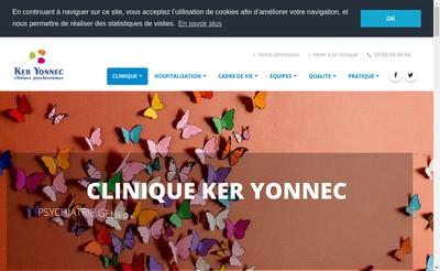 Site internet de Clinique Ker Yonnec