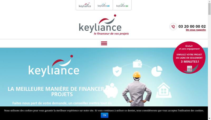 Capture d'écran du site de Keyliance Assurance