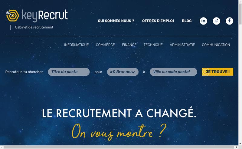 Capture d'écran du site de Keyrecrut