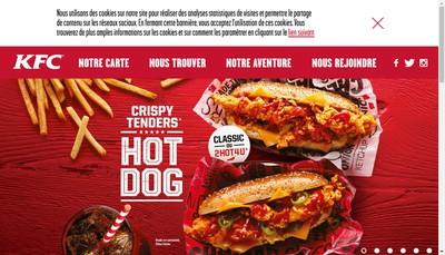 Site internet de Kentucky Fried Chicken