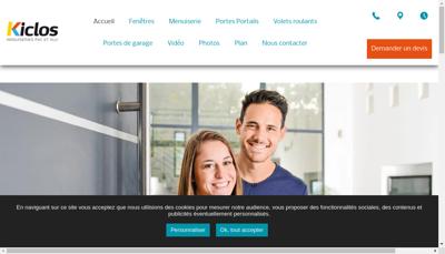 Capture d'écran du site de Kiclos Brest