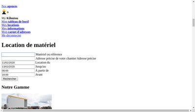 Site internet de Kiloutou