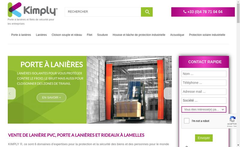 Capture d'écran du site de Kimply
