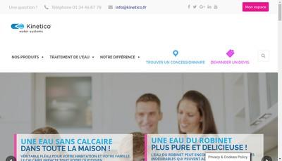 Site internet de Kinetico - France