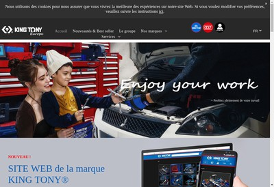 Site internet de King Tony Europe