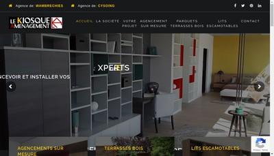 Site internet de Le Kiosque Amenagement