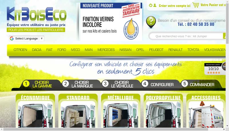 Capture d'écran du site de Kitboiseco