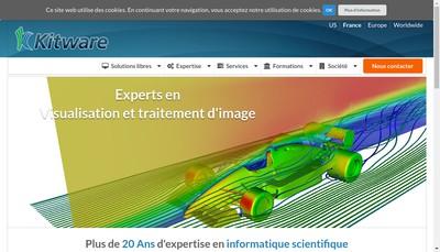 Site internet de Kitware SAS