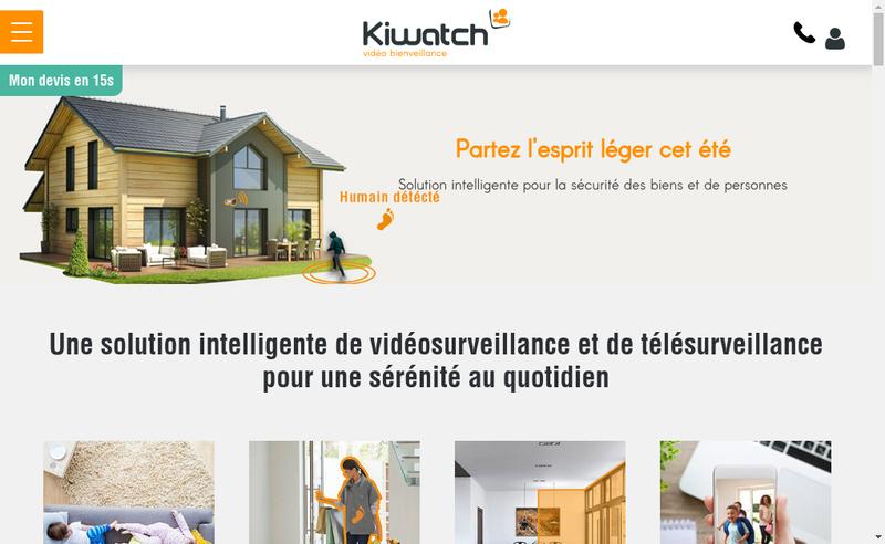 Capture d'écran du site de Kiwatch