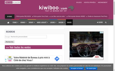 Site internet de SARL Kiwiboo