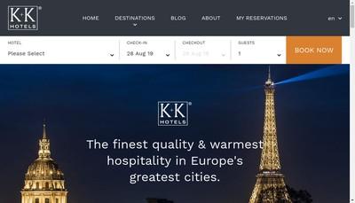 Site internet de K + K Hotels SAS