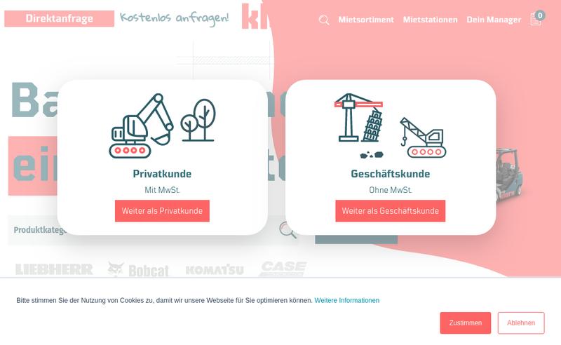 Capture d'écran du site de Klarx