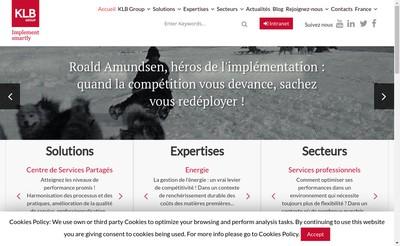 Site internet de K Consulting K Buy Klb Group