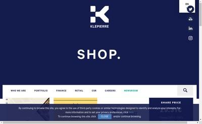 Site internet de Klepierre