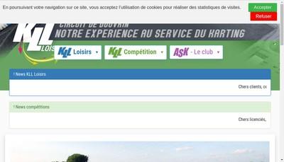 Site internet de Kart Loisirs Location Competition
