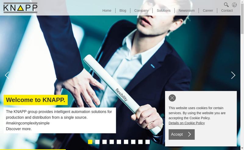 Capture d'écran du site de Knapp France