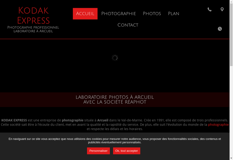 Capture d'écran du site de Reaphot