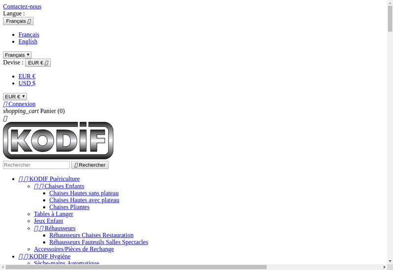 Capture d'écran du site de Kodif SAS