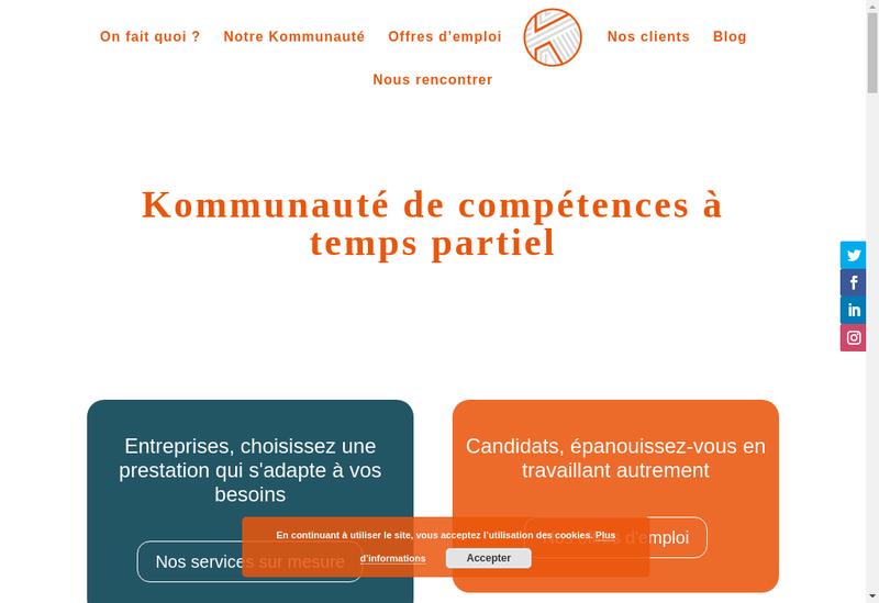 Capture d'écran du site de Kom & Do