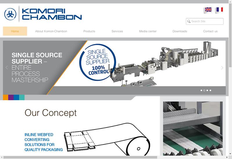 Capture d'écran du site de Komori Chambon