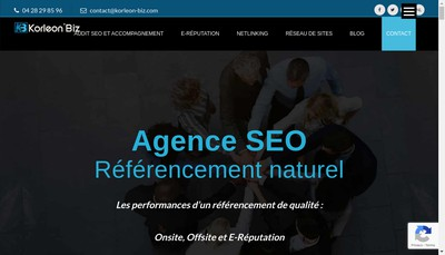 Site internet de Korleon'Biz