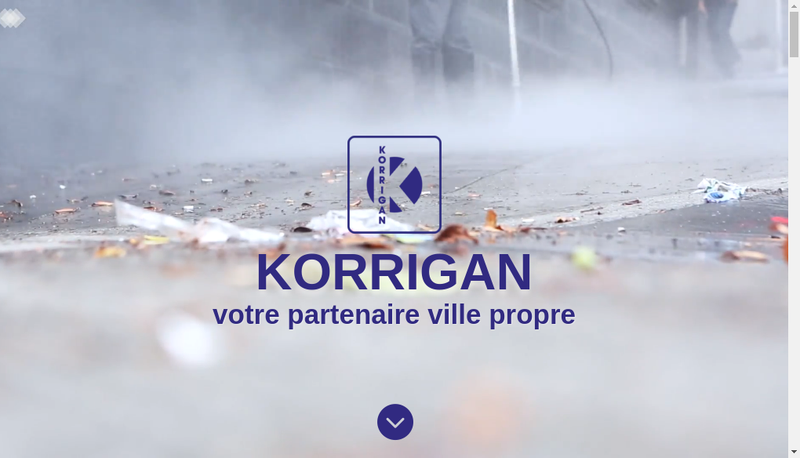 Capture d'écran du site de Korrigan