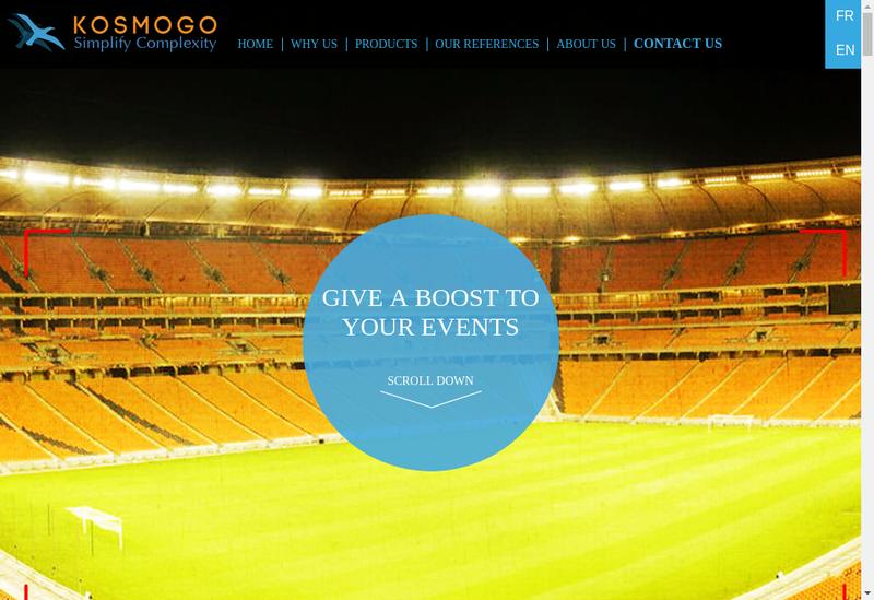 Capture d'écran du site de Kosmogo