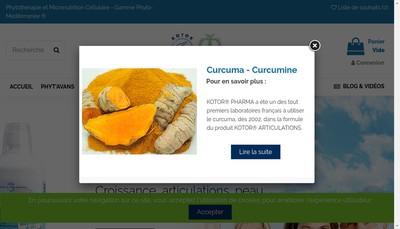 Site internet de Kotor Pharma - Phyt'Avans