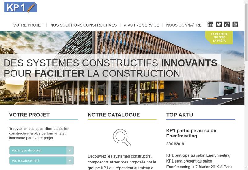 Capture d'écran du site de Kp1 Armatures