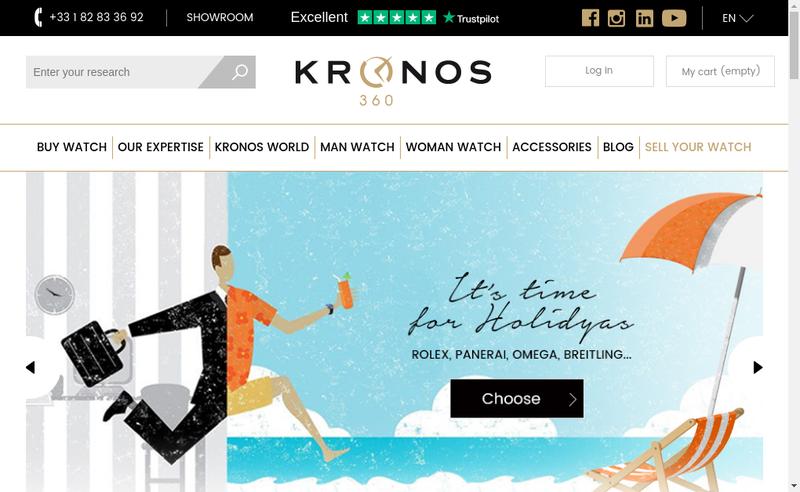 Capture d'écran du site de Kronos 360