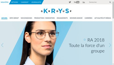 Site internet de Krys Group Services