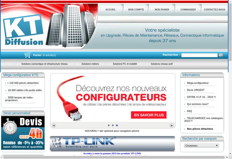 Capture d'écran du site de Kt Diffusion