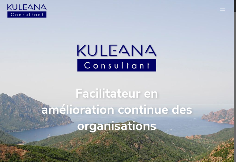 Capture d'écran du site de KULEANA Consultant