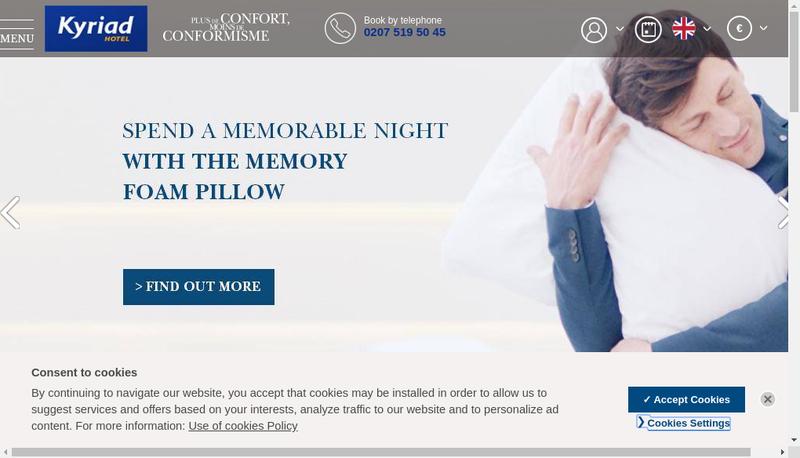Capture d'écran du site de Hotel de Boulogne