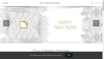 Site internet de L-Acoustics