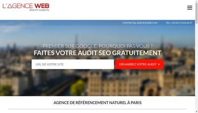 Site internet de L'Agence Web Com