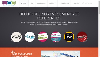 Site internet de LEO - Loire Evenement Organisation